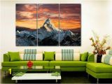 Snow forest Wall Mural Everest Canvas Mountain Wall Art Snow forest Canvas