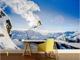 Snow forest Wall Mural Snow Wall Mural Snow Wall Decal Extreme Wallpaper Snowboard Wallpaper Self Adhesive Vinly Mountains Wallpaper Extreme Snowboard