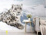 Snow Leopard Wall Mural Amazon 3d Wallpaper Modern Simple Snow Leopard