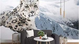 Snow Leopard Wall Mural Amazon 3d Wallpaper Modern Simple Snow Leopard