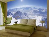 Snow Mountain Wall Mural 44 ] Wallpaper Murals Winter Scenes On Wallpapersafari