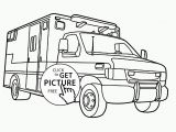Snow Plow Coloring Page Ambulance Coloring Page