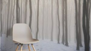 Snow Scene Wall Murals Snow forest Wallpaper