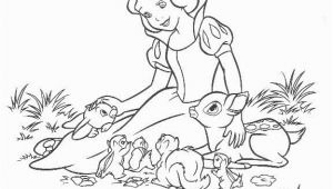 Snow White Coloring Pages Disney Clips Snow and Animal Friends