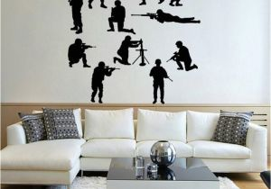 Snowboard Wall Mural Idfiaf Military Army sol R Wall Sticker Guns Wall Decal War