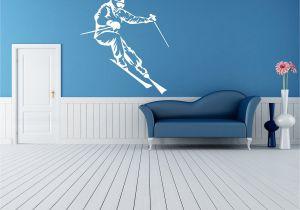 Snowboard Wall Mural Wall Room Decor Art Vinyl Sticker Mural Decal Ski Snowboard Slop Big