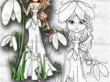 Snowdrop Coloring Pages Darling Buds Snowdrop Digital Stamp