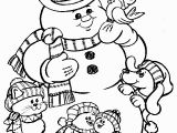 Snowman Christmas Coloring Pages Christmas Coloring Pages