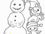 Snowman Christmas Coloring Pages Christmas Penguin Digital Stamp