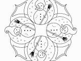 Snowman Christmas Coloring Pages Christmas Snowmen Kg Winter Weihnachten