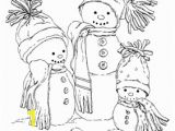 Snowman Christmas Coloring Pages Embroidered Snowmen Coloring Pages