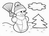 Snowman Christmas Coloring Pages New Christmas Snowman Coloring Page for Kids