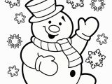 Snowman Coloring Pages for Kindergarten Christmas Coloring Pages