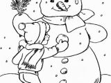 Snowman Coloring Pages for Kindergarten Line Snowman Coloring Page Printables