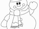 Snowman with Scarf Coloring Page 15 Best Ideas About Snowman Coloring Pages On Pinterest