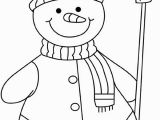 Snowman with Scarf Coloring Page Snowman Template Snowman Crafts