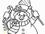 Snowman with Scarf Coloring Page Snowman with Scarf Coloring Page Coloringcrew