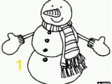 Snowman with Scarf Coloring Page Snowmen Coloring Pages Printable Games 2
