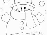 Snowman with Scarf Coloring Page Winter Coloring Page Snowman