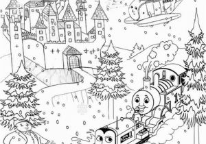 Snowy Mountain Coloring Page Printable Christmas Colouring Pages for Kids Thomas Winter Pictures