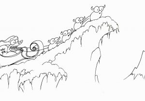 Snowy Mountain Coloring Page Snow