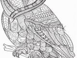 Snowy Owl Coloring Page Hand Drawn Coloring Pages with Owl Illustration for Adult