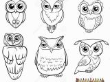 Snowy Owl Coloring Page Owl Characters Coloring Page Stock Vector Illustration Of