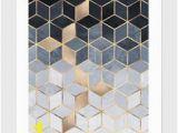 So Blue Gradient Cubes Wall Mural Daniel S Favorite Art