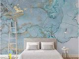 So Blue Gradient Cubes Wall Mural Luxus Blau Vergoldung Textur Tv Hintergrund Wand