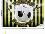 Soccer Ball Wall Mural Football Yellow Black Wall Mural Wallpaper Room Décor