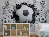 Soccer Ball Wall Mural Wall Mural Football Through the Wall Xxl Photo Wallpaper
