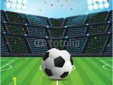 Soccer Goal Wall Mural Abstract Sport soccer Background with Space for Text and