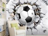 Soccer Murals for Bedrooms Custom Wall Mural Wallpaper 3d soccer Sport Creative Art Wall