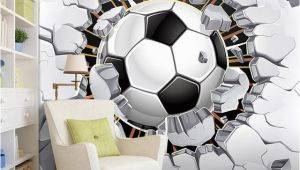 Soccer Murals for Bedrooms Custom Wall Mural Wallpaper 3d soccer Sport Creative Art Wall