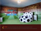 Soccer Murals for Bedrooms Football themed Room Mural by Eredshoe Cheshire
