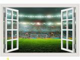 Soccer Stadium Wall Mural Amazon Guoxin12 3d Fake Window Wall Stickers