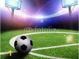 Soccer Stadium Wall Mural Image Stadium In Lights and Flashes Wall Mural