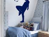 Soccer Wall Mural Decals Boy Playing soccer Wall Decal Football Player Wall Sticker Removable