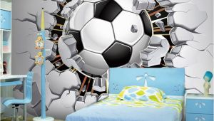 Soccer Wall Mural Decals Custom Wall Mural Wallpaper 3d soccer Sport Creative Art Wall