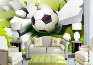 Soccer Wall Murals Wallpaper 3d soccer Football Sports Wall Mural Home or Business