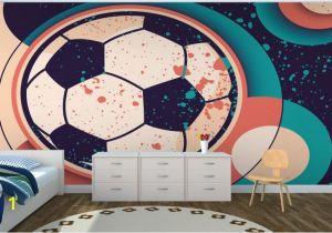 Soccer Wall Murals Wallpaper Paint Effect soccer Ball Wall Mural Murawall