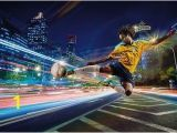 Soccer Wall Murals Wallpaper Street soccer Football Player Brasil Wallpaper Wall