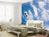 Soccer Wall Murals Wallpaper Us $16 73 Off Football & Blue Sky Photo Wallpaper soccer 3d Wall Mural Custom Silk Wallpaper Art Painting Room Decor Children Room Bedroom W