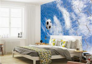 Soccer Wall Murals Wallpaper Us $16 73 Off Football & Blue Sky Photo Wallpaper soccer 3d Wall Mural Custom Silk Wallpaper Art Painting Room Decor Children Room Bedroom W