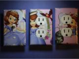 Sofia the First Mural sofia the First 3 Pc Set Light Switch Cover Girls Princess Room
