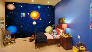 Solar System Wall Mural for Kids 20 Wondrous Space themed Bedroom Ideas You Should Try