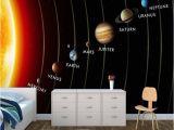 Solar System Wall Mural for Kids Angepasst 3d Wandbild Kinder Tapete solar System Planeten Wandbild