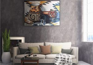 Southwestern Wall Murals Amazon Kokopelli Pot by Judith Durr Woven Tapestry Wall Art