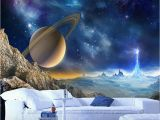 Space Galaxy Wall Mural Custom 3d Mural Wallpaper for Wall Outer Space Planet