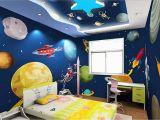 Space Galaxy Wall Mural Wall Murals 3d Wallpaper Cartoon Hand Painted Universe